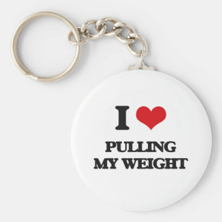 I Love Pulling My Weight Basic Round Button Keychain