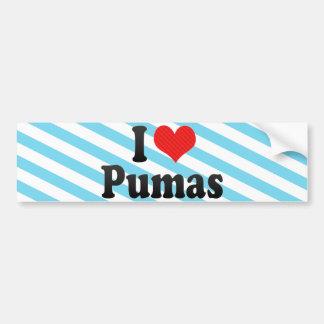 I Love Pumas Car Bumper Sticker