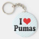 I Love Pumas Keychain
