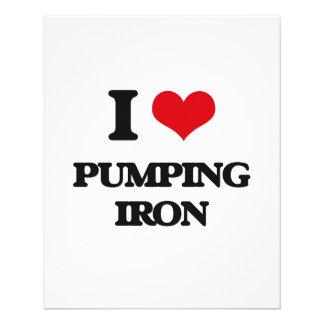 "I love Pumping Iron 4.5"" X 5.6"" Flyer"
