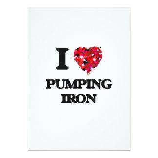 I love Pumping Iron 5x7 Paper Invitation Card