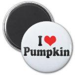 I Love Pumpkin 2 Inch Round Magnet