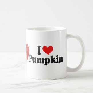 I Love Pumpkin Coffee Mug