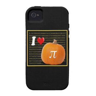 I Love Pumpkin Pie and Pi Math Numbers Orange Gold iPhone 4/4S Covers