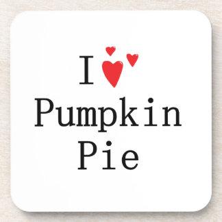 I love Pumpkin Pie Beverage Coaster