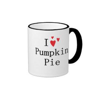 I love Pumpkin Pie Ringer Coffee Mug