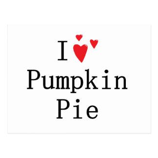 I love Pumpkin Pie Postcard