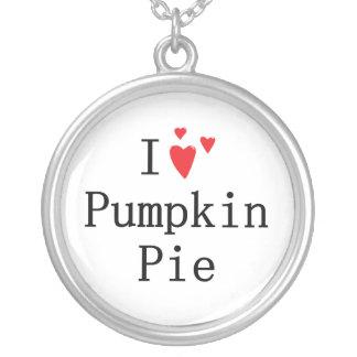 I love Pumpkin Pie Round Pendant Necklace