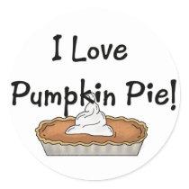 I Love Pumpkin Pie Stickers