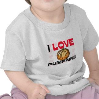 I Love Pumpkins Tshirts