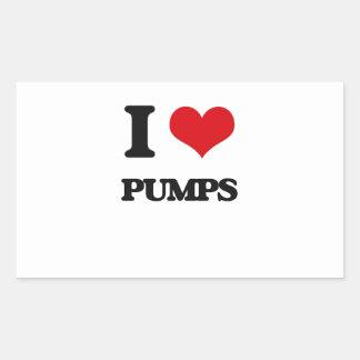 I Love Pumps Rectangular Sticker