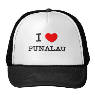 I Love Punalau Hawaii Trucker Hat