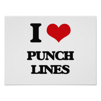 I Love Punch Lines Poster
