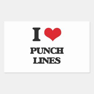 I Love Punch Lines Rectangular Sticker
