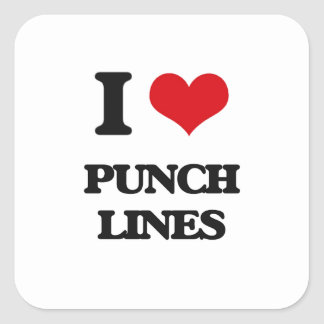 I Love Punch Lines Square Sticker