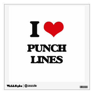 I Love Punch Lines Room Sticker