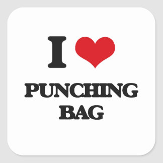 I Love Punching Bag Square Sticker