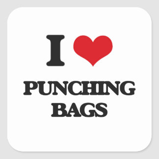 I Love Punching Bags Square Sticker