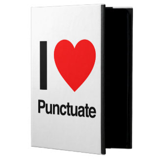 i love punctuate iPad air covers