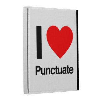 i love punctuate iPad folio covers