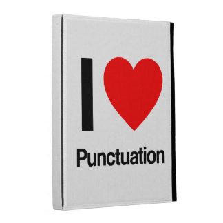 i love punctuation iPad folio cases