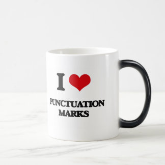 I Love Punctuation Marks 11 Oz Magic Heat Color-Changing Coffee Mug