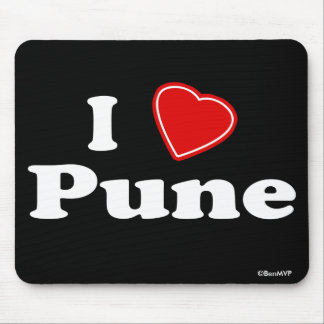 I Love Pune Mouse Pad