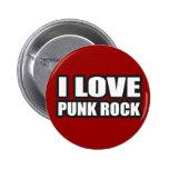 I LOVE PUNK ROCK for punk girls an guys Button