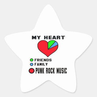 I love Punk Rock. Star Sticker