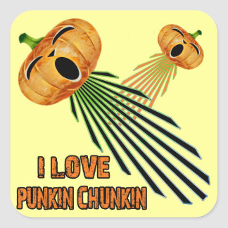I Love Punkin Chunkin Stickers