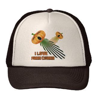 I Love Punkin Chunkin Trucker Hat