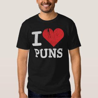 I Love Puns Basic Dark T-Shirt