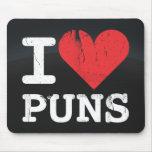 I Love Puns Dark Mousepad