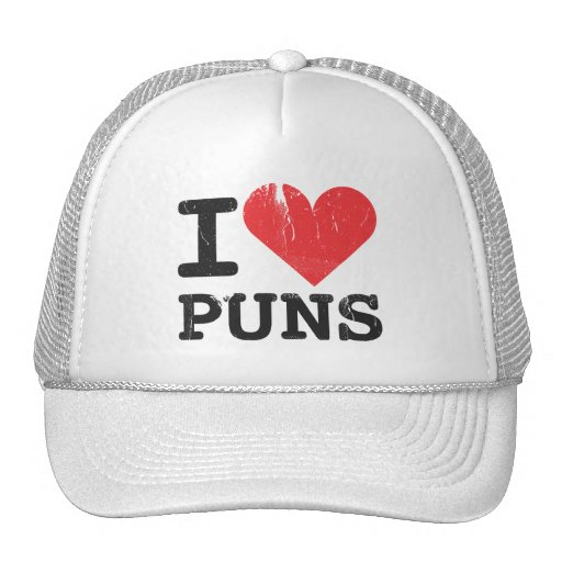 I Love Puns Trucker Hat