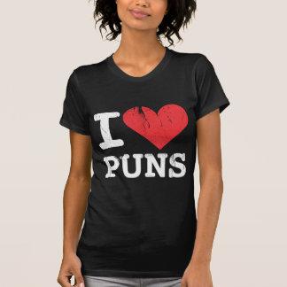 I Love Puns Women's Dark T-Shirt