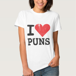I Love Puns Women's Fitted T-shirt