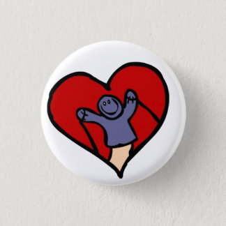 I Love Puppets Pinback Button