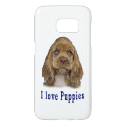 Case-Mate Barely There Samsung Galaxy S7 Case with Cocker Spaniel Phone Cases design