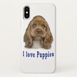 Case-Mate Barely There iPhone X Case with Cocker Spaniel Phone Cases design