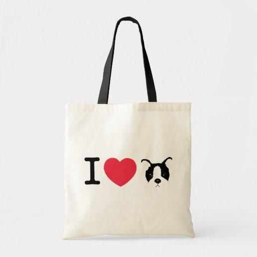 I Love Puppy Tote Budget Tote Bag