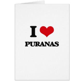 I love Puranas Greeting Card