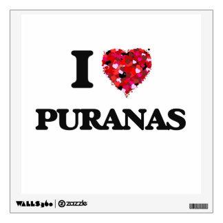 I love Puranas Room Sticker