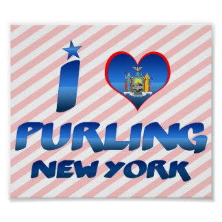 I love Purling, New York Poster