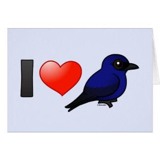 I Love Purple Martins Cards