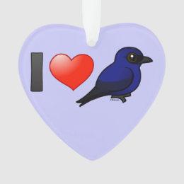 I Love Purple Martins Ornament