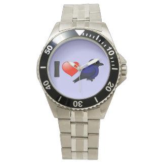 I Love Purple Martins Wristwatches
