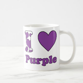 I love Purple Classic White Coffee Mug