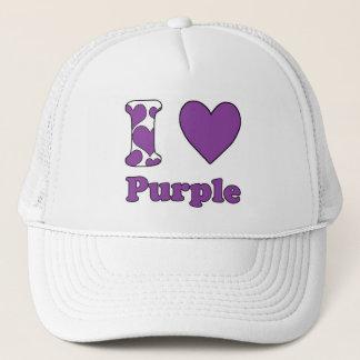 I love Purple Trucker Hat