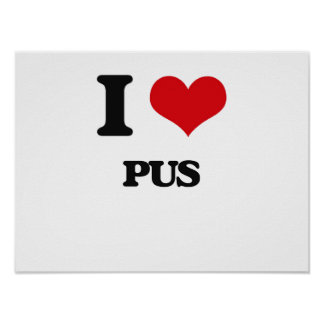 I Love Pus Poster