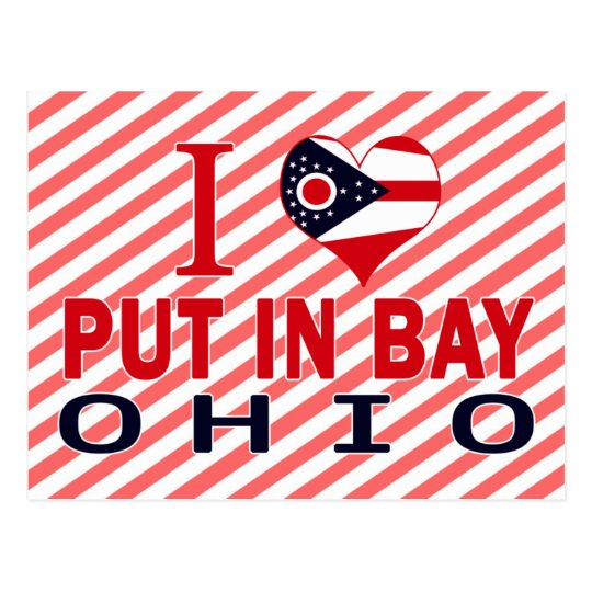 I love Put In Bay, Ohio Postcard
